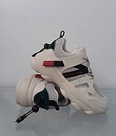 Модные женские бежевые кроссовки