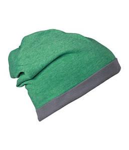 Шапка бини летняя  MGMG Зеленый Меланж / Темно-Серый