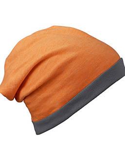 Шапка бини летняя  MODG Оранжевый Меланж / Темно-Серый