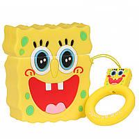 Чехол для Apple AirPods Sponge Bob (Губка Боб) 3D, силиконовый, фото 1