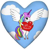 Подушка сердце интерьерная 2 размера - 37*37 см; 57*57 см