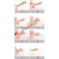 Крючковяз петлевяз рыболовный 2в1 узловяз для вязания крючков к леске