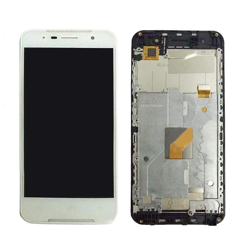 Дисплей (LCD) Doogee (HomTom) HT37 | HT37 Pro з тачскріном і рамкою, білий