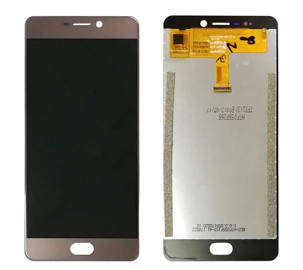Дисплей (LCD) Elephone P8 2017 с тачскрином, золотой
