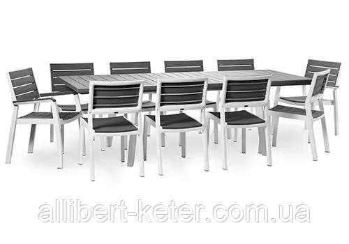 Набор садовой мебели Harmony Fiesta Set 10 Light Grey ( серый ) ( Allibert by Keter )
