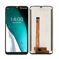 Дисплей (LCD) Oukitel C16 Pro с тачскрином, чёрный