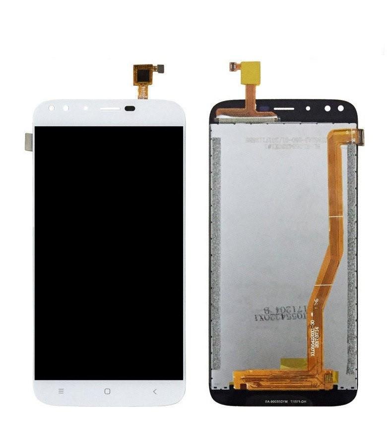Дисплей (LCD) Oukitel U22 з тачскріном, білий