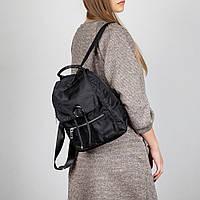 Городской рюкзак женский тканевой Spike черный