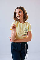 Детская футболка  Капити 4868 128 желтый
