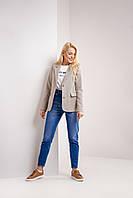 Стильный модный женский пиджак в мелкую  клетку S, M