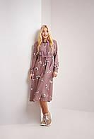 Стильное модное платье с длинным рукавом длины ниже колен в размерах S, L, XL
