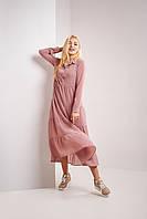 Пудровое женское модное однотонное платье Асилуэта