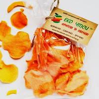 Овочеві чіпси з гарбуза, 40 грам: еквівалент 600-750 г свіжого гарбуза