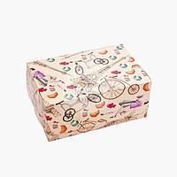 Упаковка для зефіру і еклерів - Париж - 180х120х80 мм