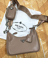 Женская брендовая сумка Prada Прада двойка кожа , женские модные сумки, брендовые сумки