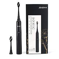 Электрическая звуковая зубная щетка Seago Sonic SG972-D, Black (K1010050248), фото 8