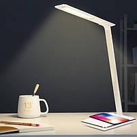 Настольная лампа Lightrich WD102 с беспроводной зарядкой, White, фото 9