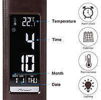 Настольная лампа Lightrich T-158 c часами и термометром, Brown, фото 6