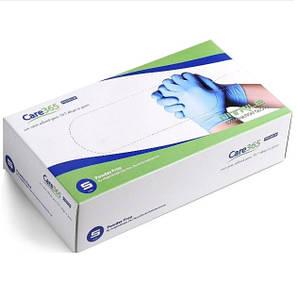 Перчатки нитриловые CARE-365 смотровые нестерильные без пудры 100шт(50пар), размер S, фото 2