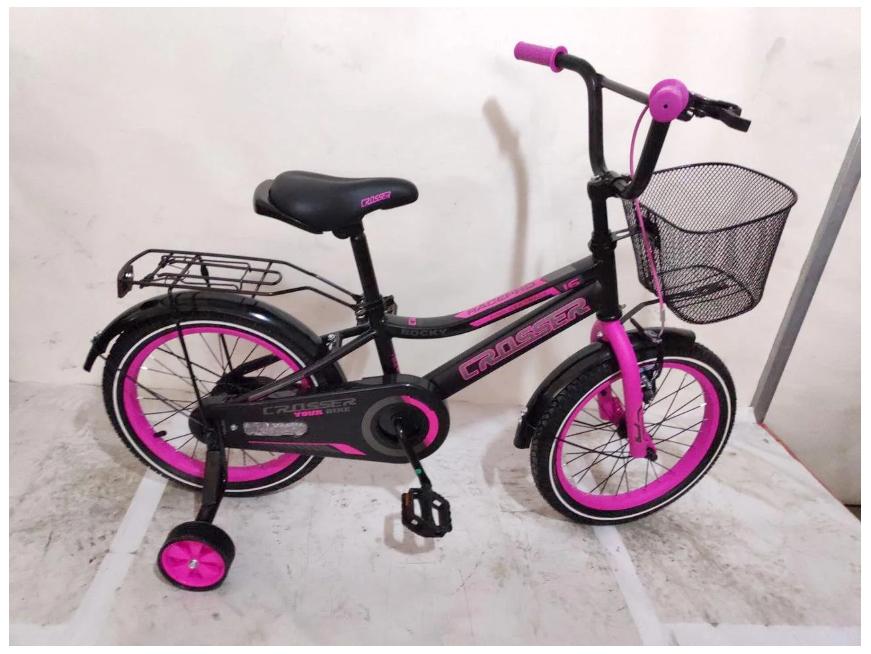 Детский двухколесный велосипед Crosser Rocky розовый 16 дюймов