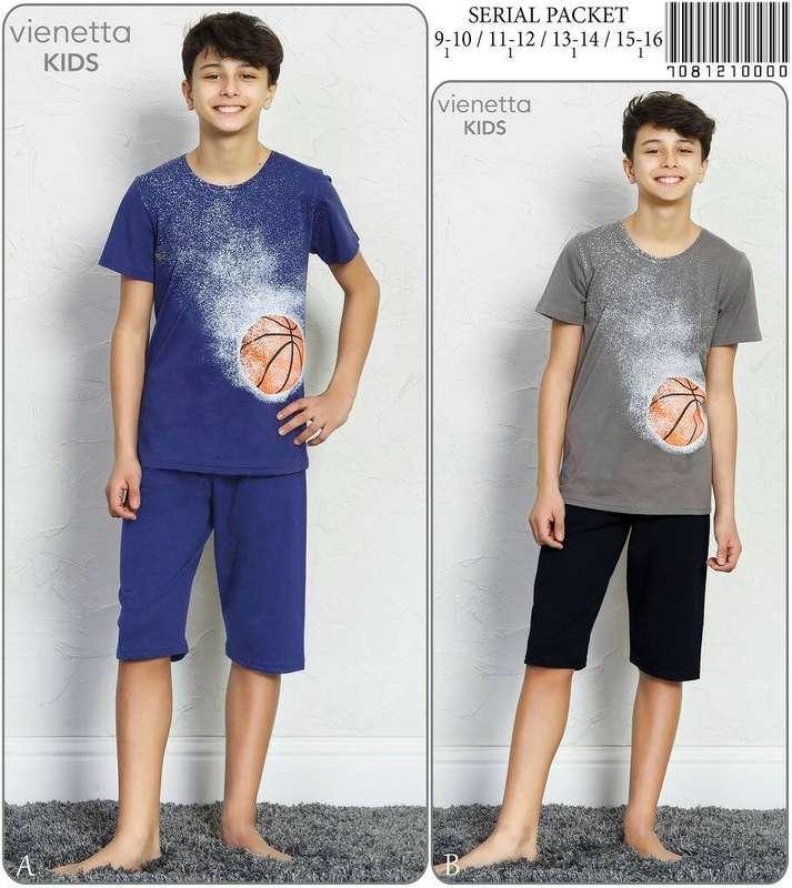 Комплект детский для мальчика (футболка короткий рукав+бриджи), оптом, ПАК/4шт (9/10-11/12-13/14-15/16 лет)