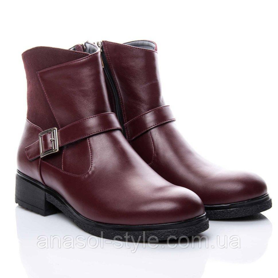 Ботинки La Rose 2158 36(24,5см) Бордовая кожа
