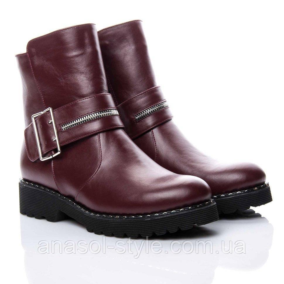 Ботинки La Rose 2160 36(24,5см) Бордовая кожа