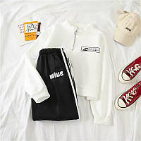 Женский спортивный костюм с укороченной кофтой и штанами на резинках 68msp883, фото 1