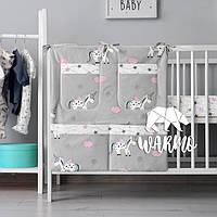 Органайзер для детской кроватки Warmo™ СЕРЫЕ ЕДИНОРОГИ