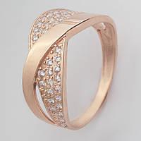 Золотое кольцо с фианитами KП1727