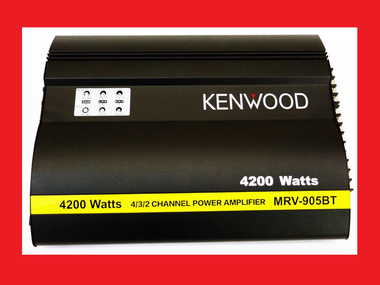 Автомобільний підсилювач звуку Kenwood MRV-905BT + USB 4200Вт 4х канальний Bluetooth