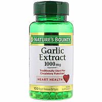 Экстракт чеснока, Nature's Bounty, 1000 мг, 100 мягких таблеток