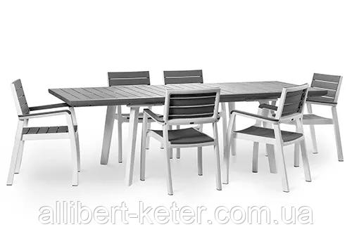 Набор садовой мебели Harmony Fiesta Set 6 Light Grey ( серый ) ( Allibert by Keter )