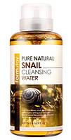 Очищающая вода с муцином улитки FarmStay Pure Natural Snail Cleansing Water