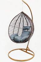 Підвісне крісло-гойдалка кокон B-183A (коричнево-сіре) (46000002)