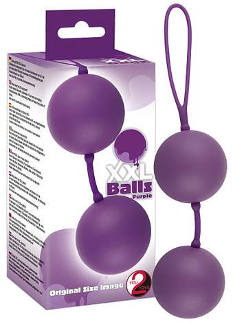 Вагинальные шарики - XXL Balls, purple, фото 2
