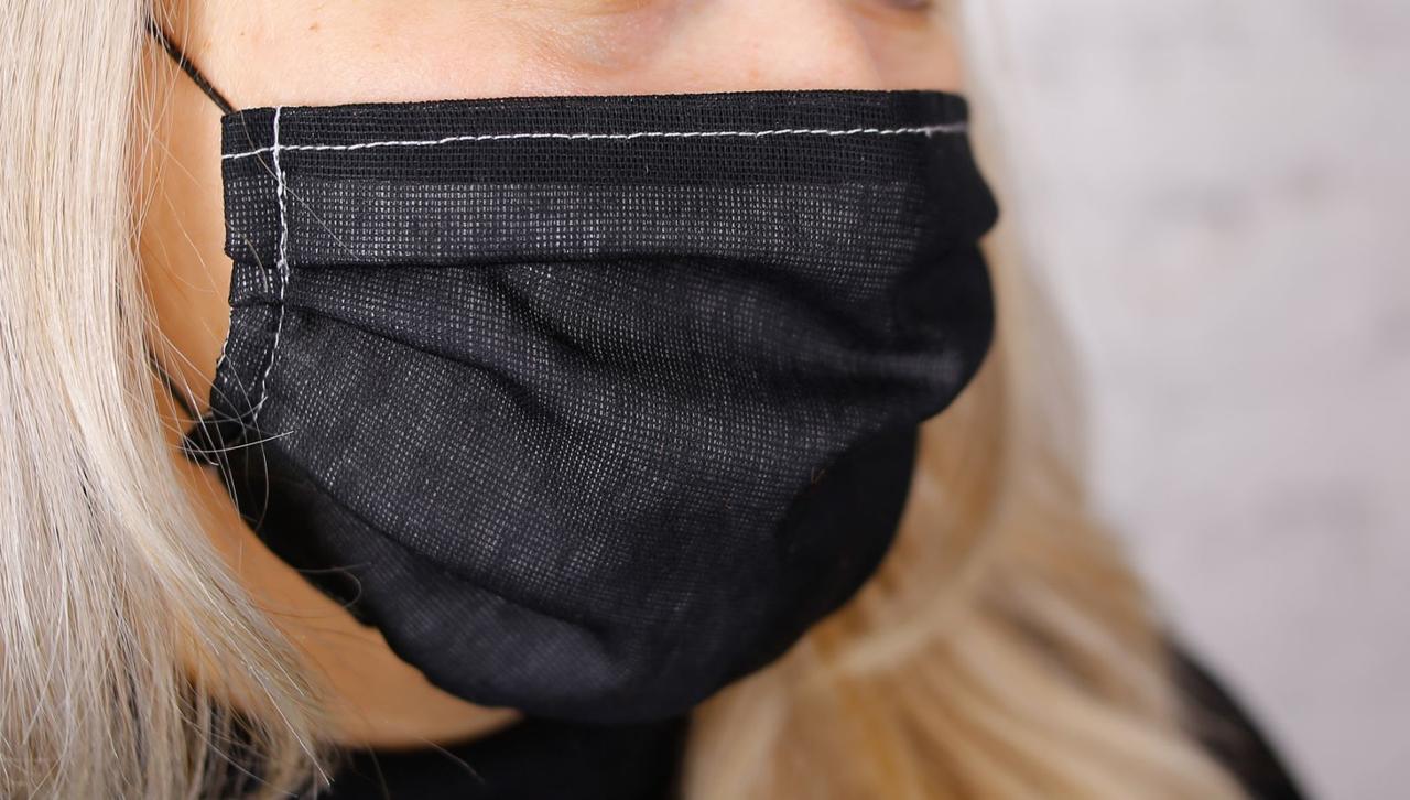 Маска защитная многоразовая черная (маска захисна багаторазова чорна)