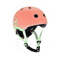 Шолом захисний дитячий Scoot and Ride, персик, з ліхтариком, 45-51см (XXS/XS)