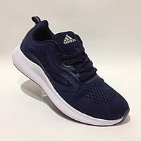 Кроссовки мужские в стиле Adidas легкие сетка летние синие