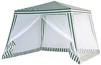 Садовый павильон для сада (торговли) Ranger SP-002 3*3 метра зеленый/белый
