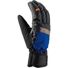 Гірськолижні рукавиці Viking Toro чорний-синій-оранжевий   розмір - 7,8,9,10