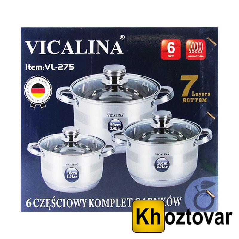 Набор кастрюль Vicalina VL-275   6 предметов