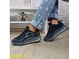 Кроссовки аирмаксы черные на амортизаторах силиконовой подушке 38 р. (2112-2), фото 2