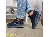 Кроссовки аирмаксы черные на амортизаторах силиконовой подушке 38 р. (2112-2), фото 7