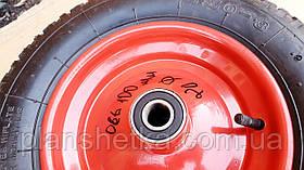 Колесо к тачки 3.50-8 ось 20 мм не разборное игольчастый 204 подшипник, фото 3