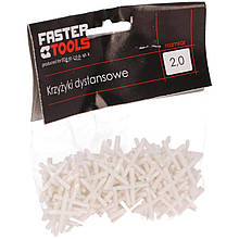 Дистанційні хрестики для плитки 1,5 мм FASTER TOOLS