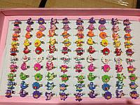 Колечки детские, разъемные -  уточки, цветочки, бабочки(100 шт)