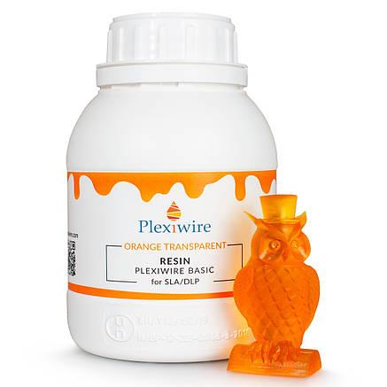 Фотополимерная смола Plexiwire resin basic 0.5 кг напівпрозорий оранжевий, фото 2
