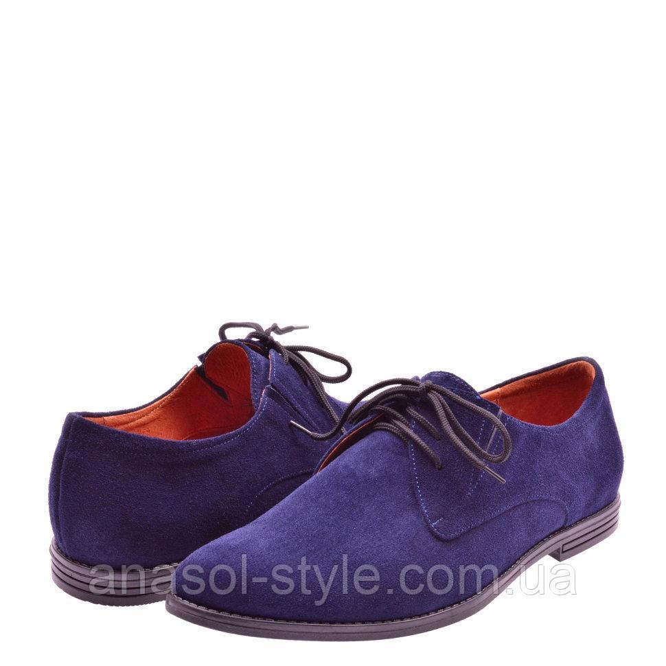 Туфли La Rose 1103 41( 28,6см) Синяя замша