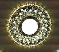 Встраиваемый точечный светильник с Led подсветкой (два источника света) Feron CD942